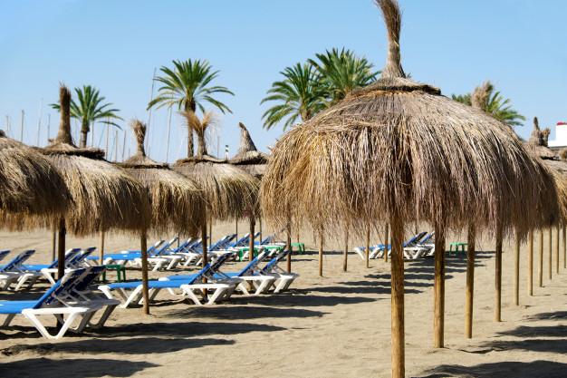 fila-sombrillas-paja-hamacas-playa-marbella-espana_1147-900